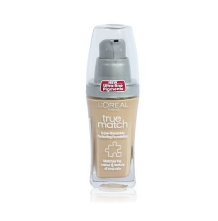 L'Oreal True Match Liquid Foundation Make Up W3 Golden Beige 30ml
