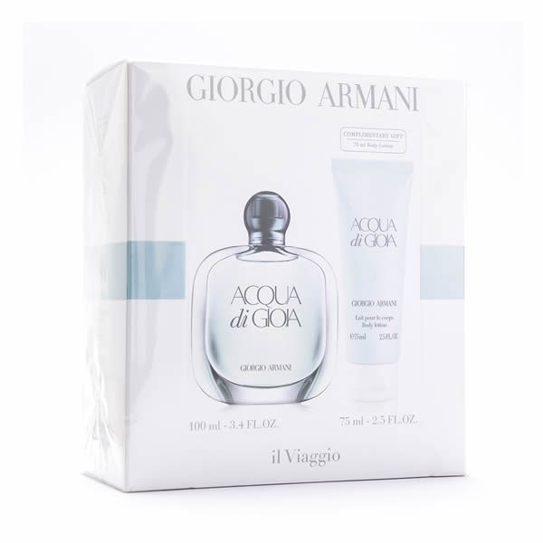 Armani Aqua Di Gioia Edp 100ml + Lotion 75ml Set