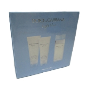 Dolce & Gabbana Light Blue Edt 100ml +  Body Lotion 100ml + Shower Gel 100ml Set