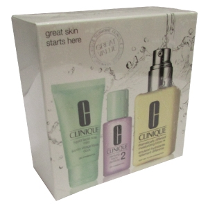 Clinique 3 Piece Face Care / Dry Skin Set