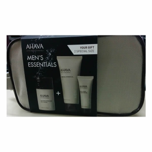 AHAVA Men After Shave 50ml, Shower 100ml, Cleanser 30ml, Set