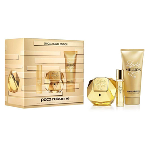 Paco  Rabanne Lady Million Edp 80ml + 10ml Travel Spray + Body Lotion 75ml Set