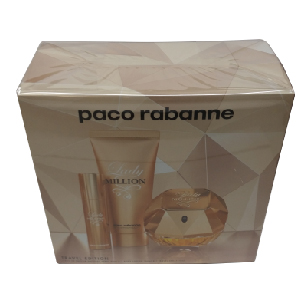 Paco Rabanne Lady Million Edp 80ml + Travel 10ml + Body Lotion 100ml Set