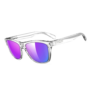 Oakley Sunglasses Frogskins Polished Clear Violet Iridium 9013-24