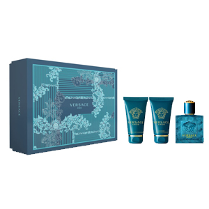 Versace Eros Set For Men Edt 50ml + Aftershave Balm 50ml + Shower Gel 50ml