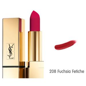 Yves Saint Laurent Rouge Pur Couture - The Mats 208 Fuchsia Fetiche Lipstick Couleur Pure Mat Eclatant 3.8ml