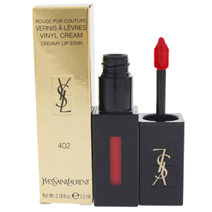 Yves Saint Laurent Rouge Pur Couture Vernis A Levres Vinyl Cream Lipgloss 402 Rouge Remix Cream Lipstain 5.5ml