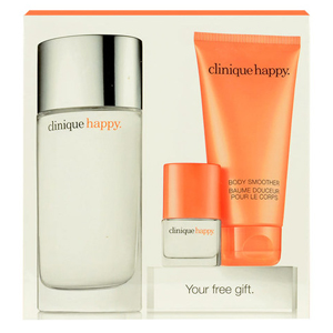 Clinique Happy Edp 100ml + 75ml Body Lotion + 4ml Edp - Set