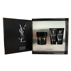 Yves Saint Laurent La Nuit De L'Homme Edt - 3 Pieces  Set 2019 For Men