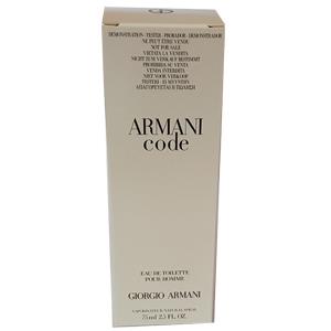 Giorgio Armani Code Edt 75ml Tester