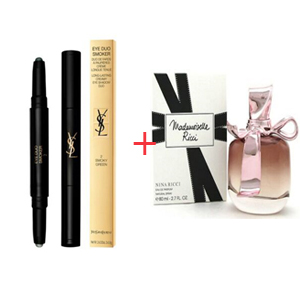 Combination Box 43 - Nina Ricci Mademoiselle Ricci Edp 80ml -Yves Saint Laurent Eye Duo Smoker - Long Lasting Creamy Eye Shadow Duo No. 02 Smoky Green 2x0.8gr