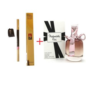 Combination Box 45 - Nina Ricci Mademoiselle Ricci Edp 80ml - Yves Saint Laurent Dessin Du Regard Long Lasting Eye Pencil No.12 Silky Pink
